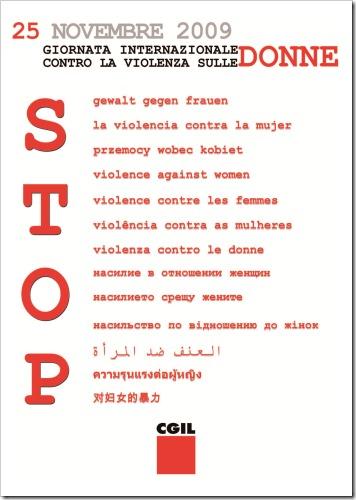ManifestoGiornataIntControViolenzaDonne25nov09