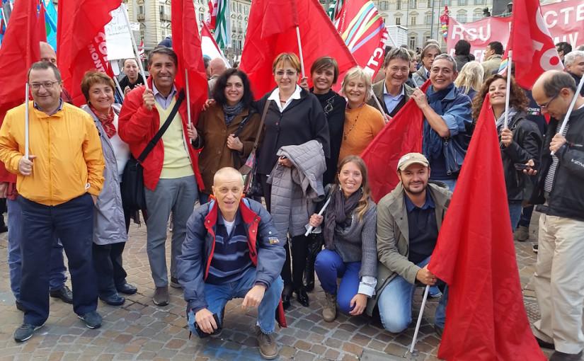 La FISAC di Torino con Susanna Camusso al presidio sulle pensioni
