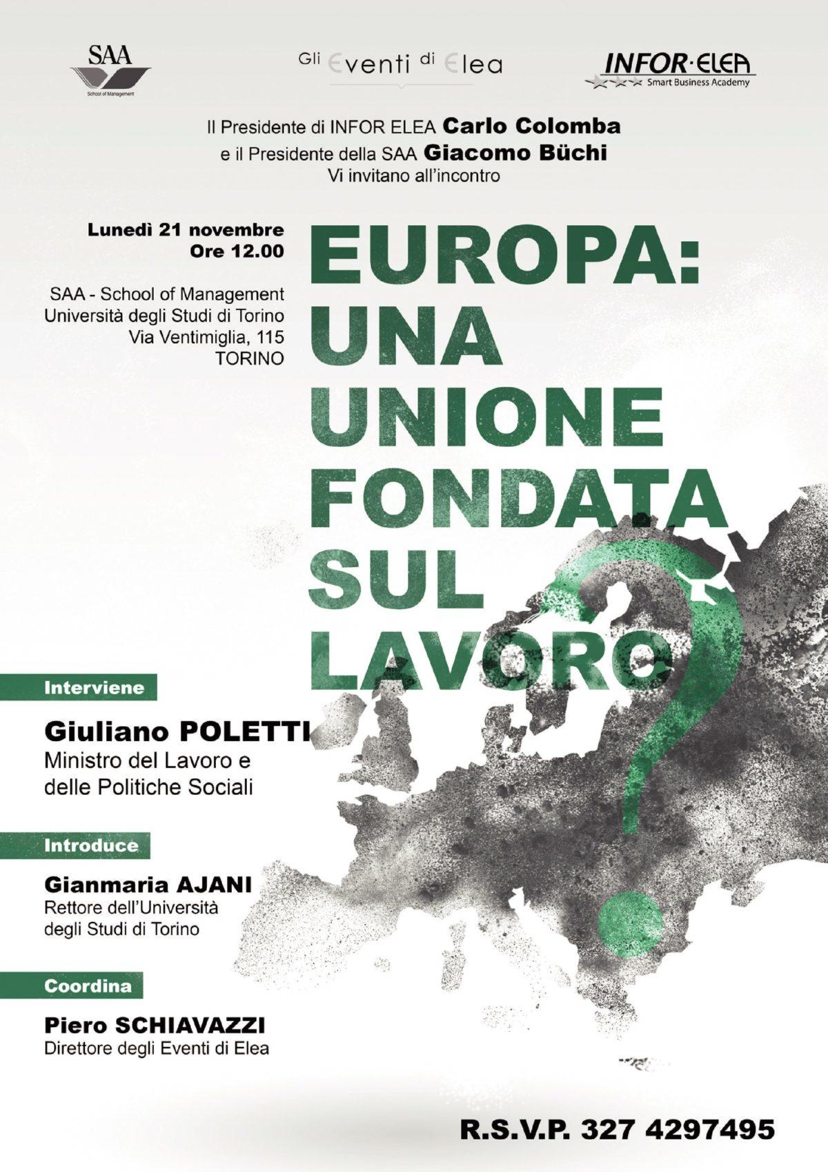 CONVEGNO EUROPA: UNA UNIONE FONDATA SUL LAVORO?