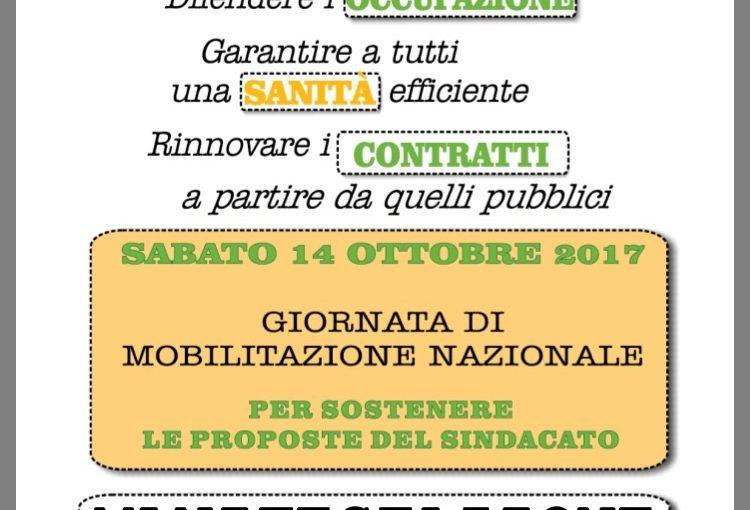 Manifestazione unitaria sabato 14 ottobre 2017 Torino – Piazza Castello ore 10.00