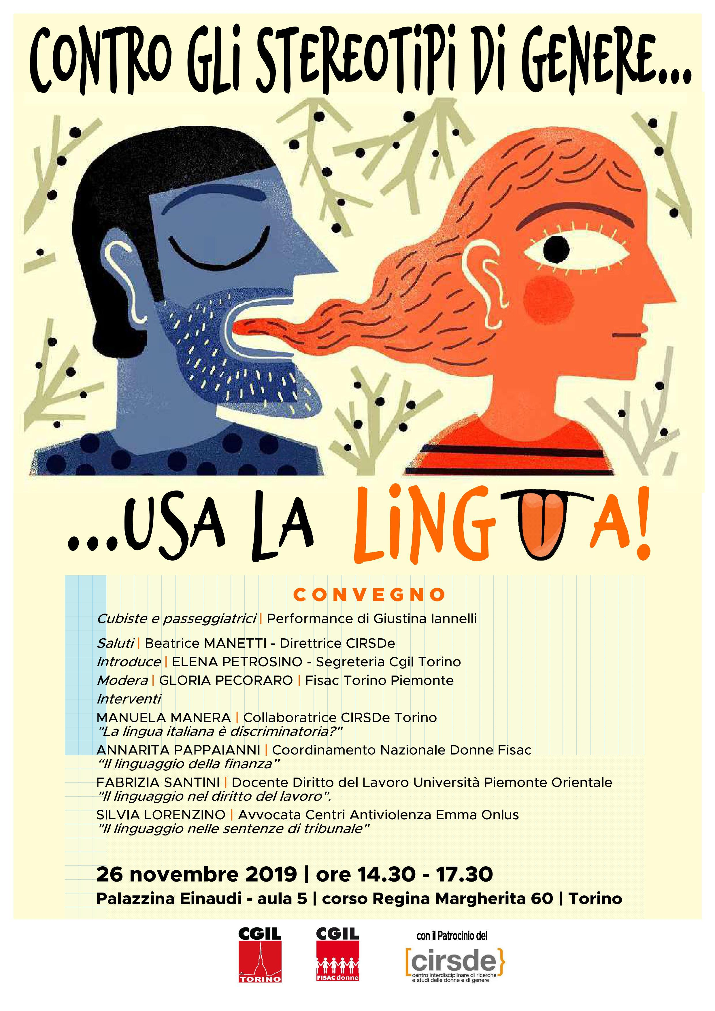 Contro Gli Stereotipi Di Genere Usa La Lingua Fisac Cgil Piemonte